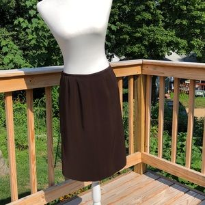 Kasper petite brown skirt